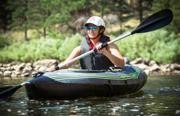 Sevylor Quikpak K5 1-Person Kayak - happy paddling - Paddle