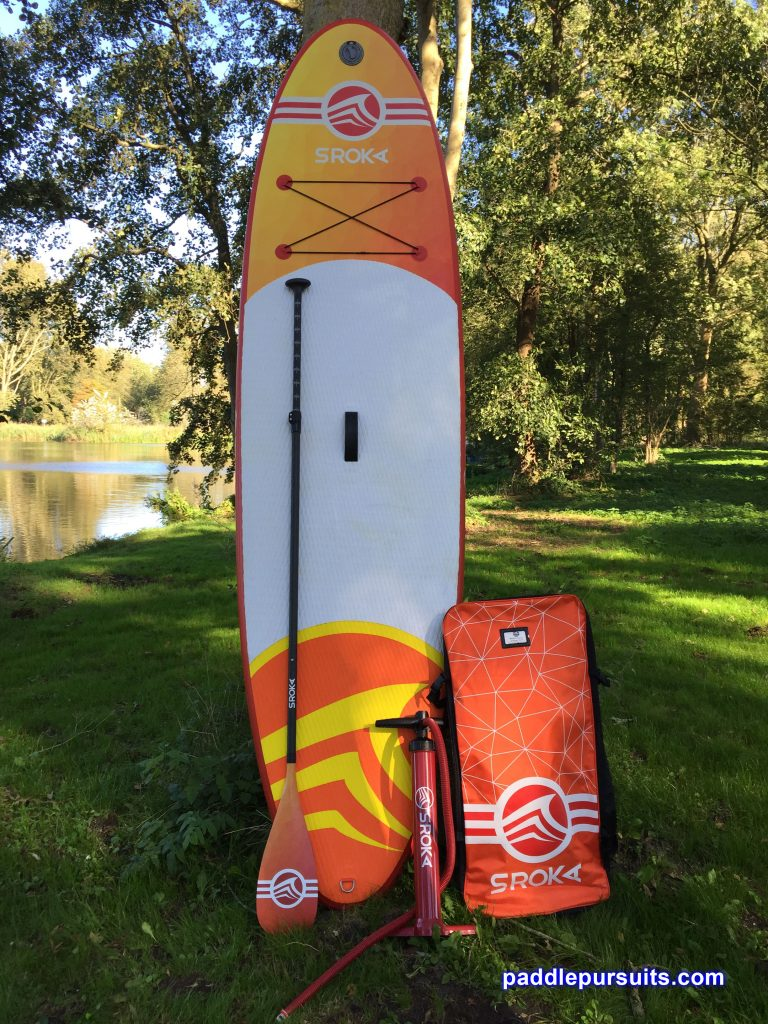 Sroka Malibu 10'6 inflatable standup paddleboard - package with backpack and repair kit. Carbon fibre paddle is optional