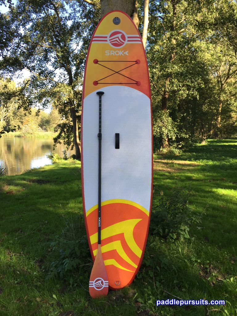 Sroka Malibu 10'6 inflatable standup paddleboard with Sroka carbon fibre paddle