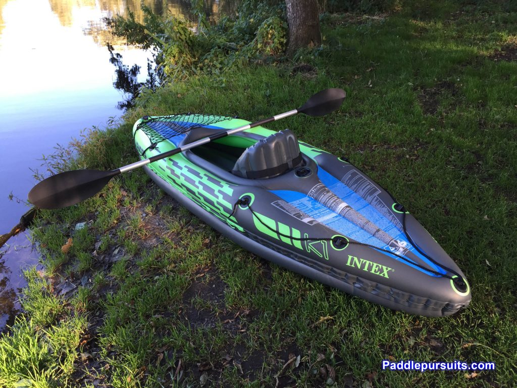 Intex Challenger K1 - great beginner kayak with paddle and pump