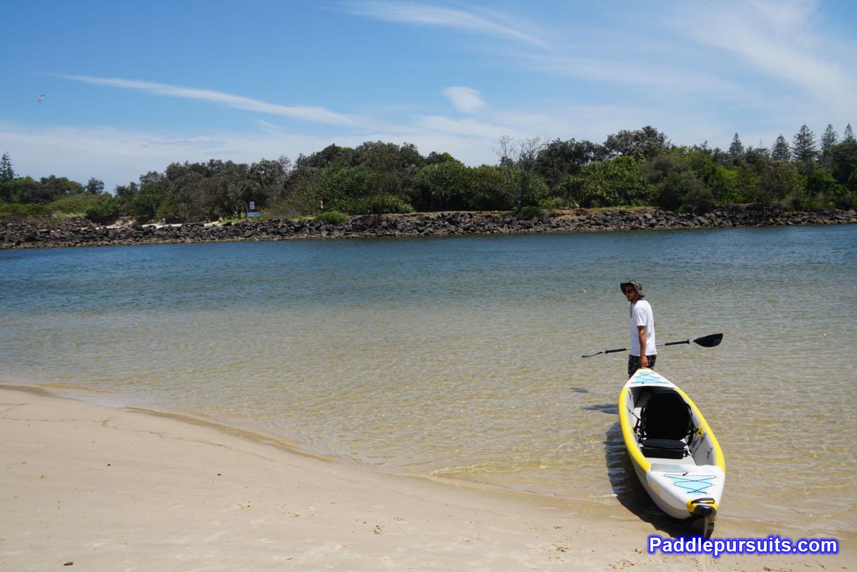 Bay Sports Air Glide 473 inflatable kayak - Kayak launch