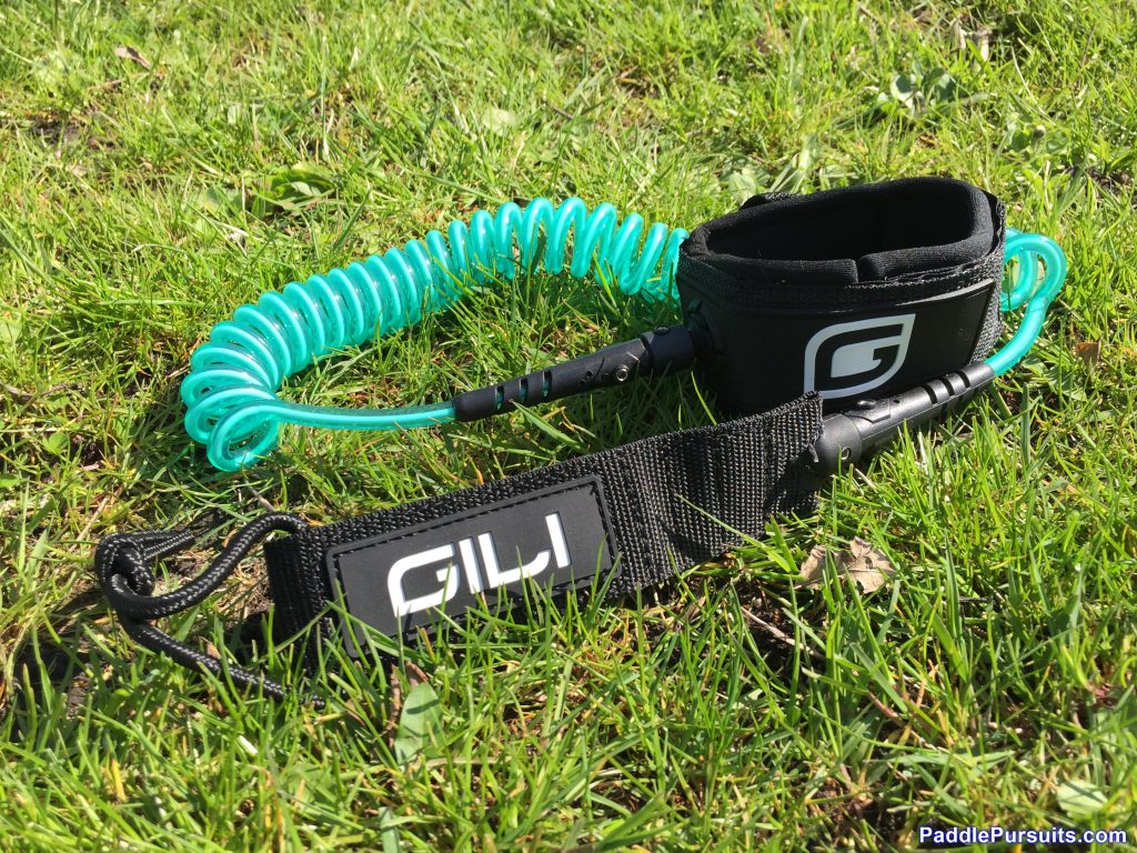 Gili Sports Air 10'6 SUP paddle - Safety Leash on spring coil